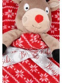 Unisex Baby Red Reindeer Comforter Set