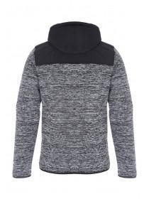 Mens Grey Texture Zip Hoody