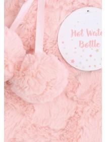 Pale Pink Pom Hot Water Bottle