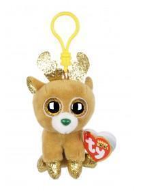Kids TY Christmas Reindeer Beanie Boo Clip