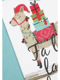 Christmas 2pk Llama Tea Towel Set
