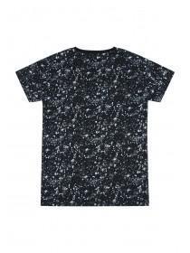 Older Boys Black Paint Splat T-Shirt