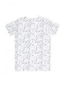 Older Boys White Paint Splat T-Shirt