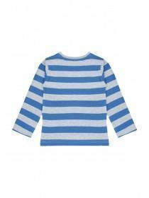 Younger Boys Blue Stripe Truck T-Shirt