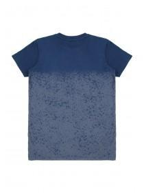 Older Boys Blue Dip Dye Splat T-Shirt