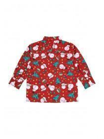 Younger Boys Red Christmas Shirt