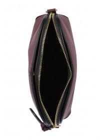 Womens Burgundy  Dome Across Body Bag