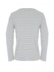Mens Cream Stripe Long Sleeve Top