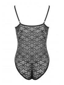 Womens Black Lace Bodysuit