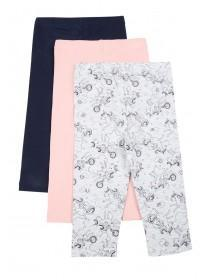 Baby Girls 3pk Grey Unicorn Leggings