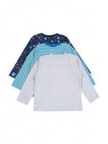 Baby Boys 3pk Blue Dragon T-Shirts