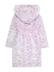 Girls Pink Star Dressing Gown