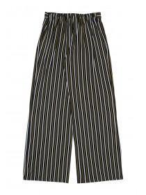 Older Girls Monochrome Stripe Tie Front Trousers
