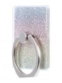 Womens Rainbow Glitter Phone Ring