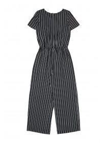 Older Girls Monochrome Stripe Jumpsuit