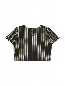 Older Girls Monochrome Stripe Top