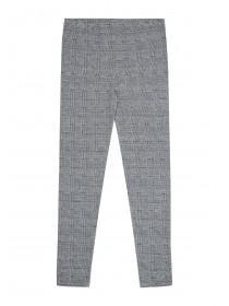 Older Girls Grey Check Leggings