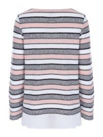 Womens Pink Stripe Top