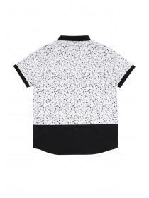 Older Boys Monochrome Splat Polo Collar Shirt
