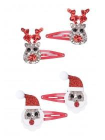 Novelty Christmas 4pk Snap Clips