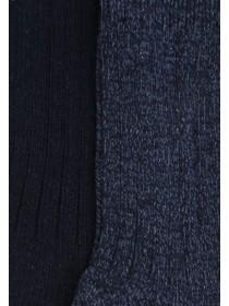 Mens 2pk Blue Thermal Socks