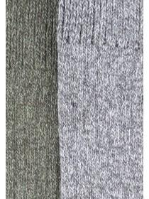 Mens 2pk Green Thermal Socks