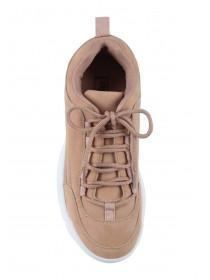 Womens Pale Pink Chunky Trainers