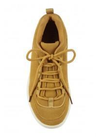 Womens Mustard Chunky Trainers