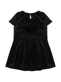 Younger Girls Velvet Overlay Dress