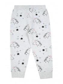 Younger Girls Grey Unicorn Jogger