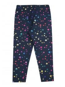 Younger Girls Navy Star Leggings