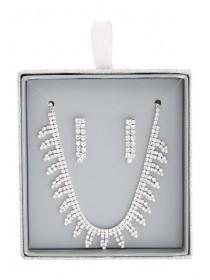 Womens Diamante Necklace and Earring Set