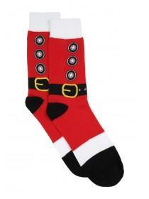 Mens 1pk Red Santa Christmas Socks