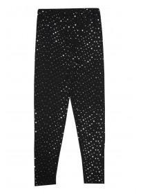Older Girls Black Sparkle Leggings
