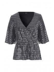 Womens ENVY Metallic Kimono Top