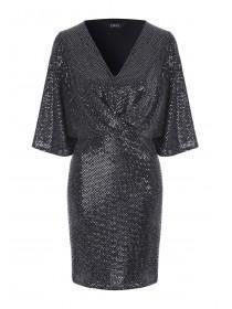 Womens ENVY Metallic Kimono Dress