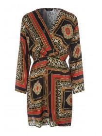 Womens ENVY Scarf Print Dress