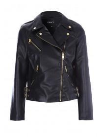 Womens ENVY Black Biker Jacket