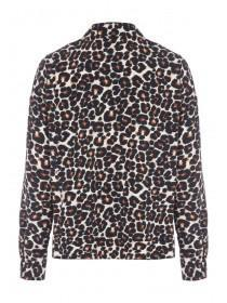 Womens Leopard Print Button Through Blouse