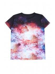 Older Boys Black Galaxy T-Shirt