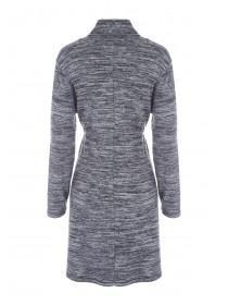 Womens Grey Cosy Cowl Neck Dress