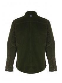 Mens Dark Green Cord Long Sleeve Shirt