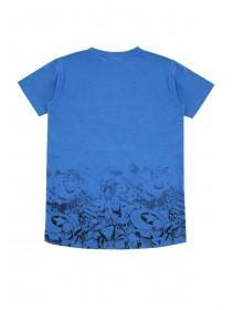 Older Boys Blue Fade Out Marvel T-Shirt