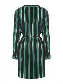 Womens Green Stripe Tunic Dress