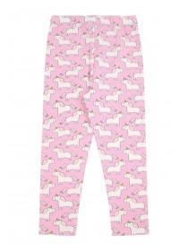 f3dc69543906d8 Younger Girls Pale Pink Unicorn Leggings Younger Girls Pale Pink Unicorn  Leggings ...