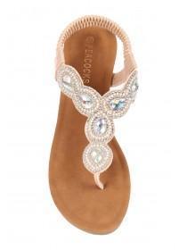 6930789bdc42 Womens Rose Gold Comfort Wedge Sandals Womens Rose Gold Comfort Wedge  Sandals