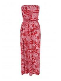 ba4267ab5b4 Womens Red Leaf Midi Dress Womens Red Leaf Midi Dress
