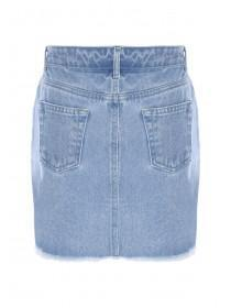 24abec9c8 ... Older Girls Light Blue Denim Button Through Skirt