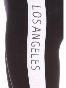 c8c28066a18dd ... Older Girls Black Los Angeles Slogan Leggings