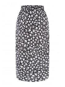 4a8b1603d2 Womens Monochrome Floral Slip Skirt Womens Monochrome Floral Slip Skirt